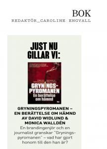 Tidningen Kupé recenserar Gryningspyromanen