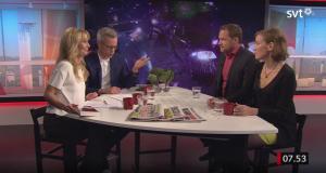 David Widlund och Monica Walldén gästar SVT:s Gomorron Sverige.